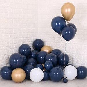 Image 4 - 30 個 5/10/12 インチインクブルーラテックス風船ダークブルーヘリウム気球誕生日結婚式の装飾パーティーバルーン用品グロボス