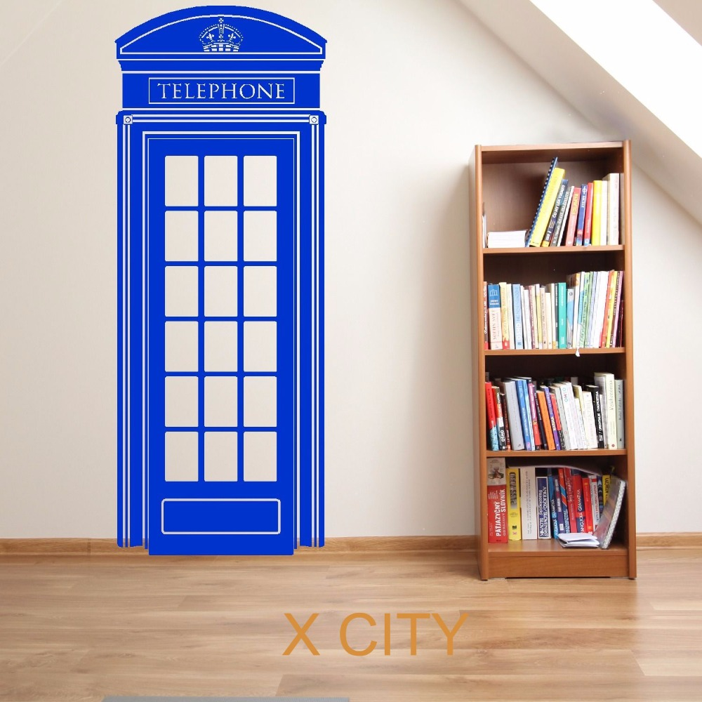 LONDON TELEPHONE BOX UK SCENERY DOCTOR WHO Vehicle Vinyl Wall Art Room  Sticker Decal Door Window Stencils Mural Decor 148x57cm In Wall Stickers  From Home ... Part 60