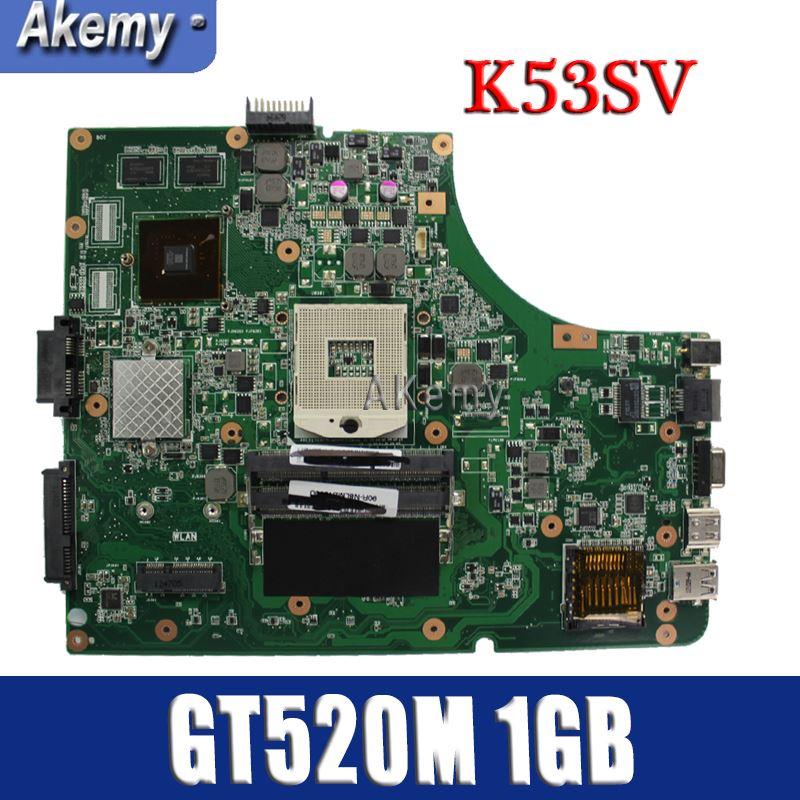 Amazoon  K53SV Laptop motherboard for ASUS K53SV K53SC K53S K53 Test original mainboard REV2.1/2.4/3.0/3.1 GT520M 1GB cardAmazoon  K53SV Laptop motherboard for ASUS K53SV K53SC K53S K53 Test original mainboard REV2.1/2.4/3.0/3.1 GT520M 1GB card