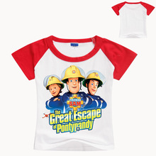 Fireman Sam Baby Boys T Shirt Summer 2019 Short Sleeve Cartoon Sleeves Children Kids Fashion Top
