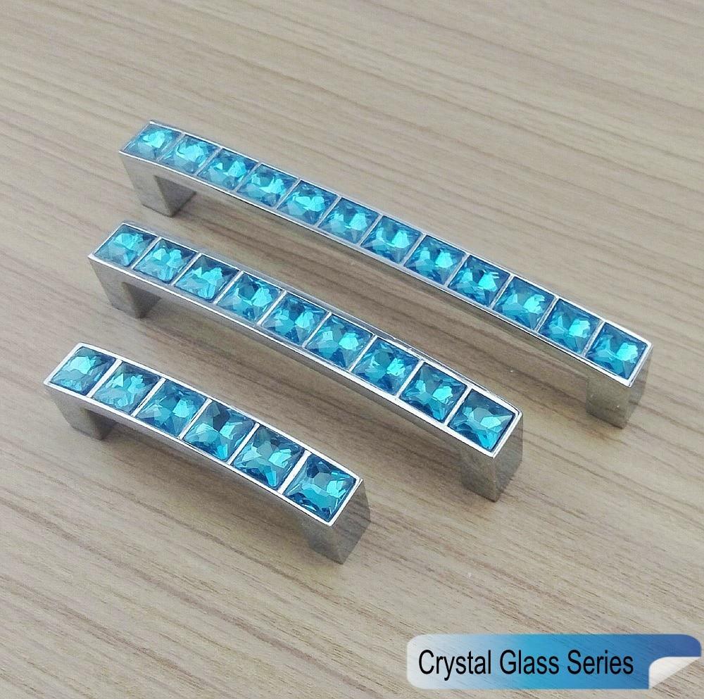 Super Shiny Crystal Glass 3D Diamond Handles Furniture Hardware Door ...
