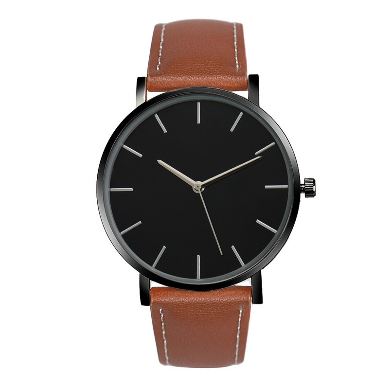 Fashion Analog Quartz Watch Men Women Luxury Famous Brand Alloy Dial Clock PU Leather Sport Wrist