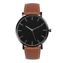 Mode Analogique À Quartz Montre Hommes Femmes De Luxe Célèbre Marque Alliage Cadran Horloge PU En Cuir Sport Poignet Montres Style Simple Reloj