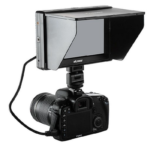 Viltrox 7 ' DC-70 II Clip-on Color TFT LCD Monitor HDMI AV Input 1024*600 Per DSLR + NP-FM500H Battery + Battery Charger