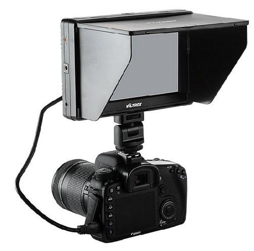 Viltrox 7  DC-70 II clip-on Color TFT LCD Monitor HDMI AV Input 1024*600 per DSLR + NP-F ...