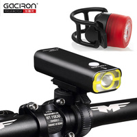 GACIRON Rechargeable Bike Light Super Bright 400 Lumens Light Cycling Front Led Lights Waterproof Big Capacity