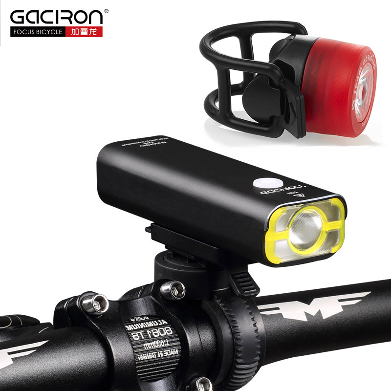 GACIRON Rechargeable bike light Super Bright 400 lumens light Cycling front led lights waterproof big capacity battery 5 modes wheel up rechargeable torch bike light 5 modes cycle light front cycling led lights waterproof big capacity lumens super bright