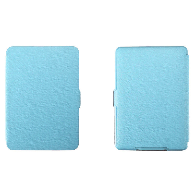 MOOL Magnetic PU Leather Cover Case Slim For Amazon Kindle Paperwhite (Cross Pattern, Blue)
