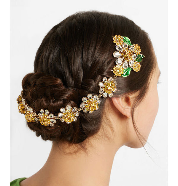27ddd3b713 Baroque luxury brand designer vintage headband bright gold flower pearl  hair bands Comb bridal hair accessories