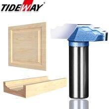 "Tideway 1/4 ""Shank เกรดอุตสาหกรรมไม้ตู้ประตูเครื่องตัด CNC Bit ประตูรูปแบบแกะสลักเครื่องตัดไม้"