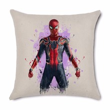 Super Hero Cushion Cover Pillow case Iron Spider Man home club office chair seat cartoon Party decoration for kids bedroom gift
