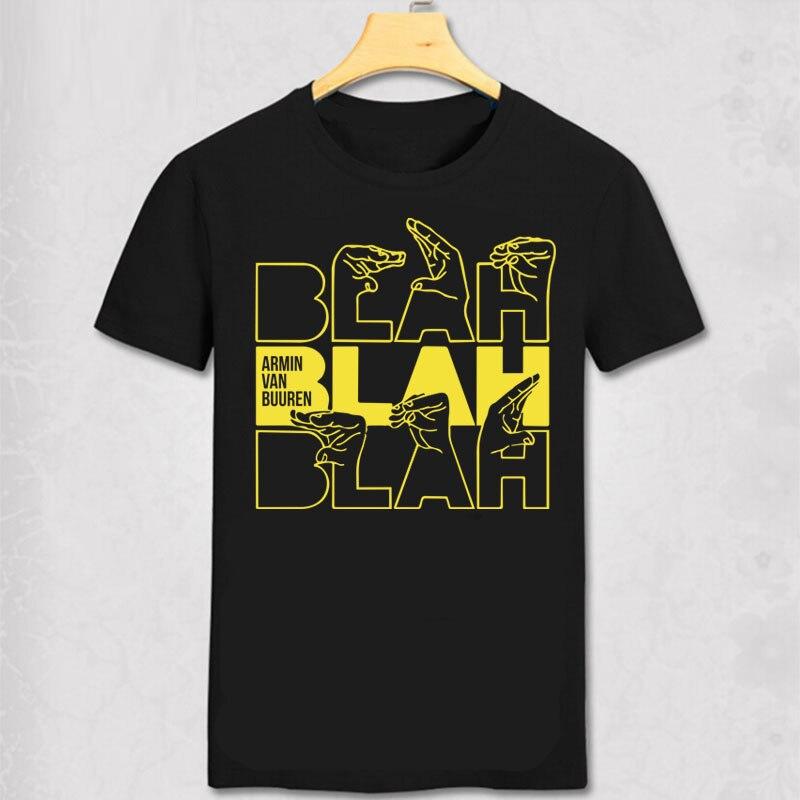 ARMIN VAN BUUREN T Shirt ARMIN VAN BUUREN BLAH T-SHIRT  Trance Music Fans Cool Casual pride t shirt DJ Men Cotton Short Tee