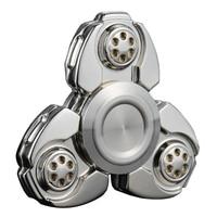 Anti Stress Sensory Metal Alloy Tri Spinner EDC Spin Fidgets Metal Finger Spinner Hand Spinner Reduce