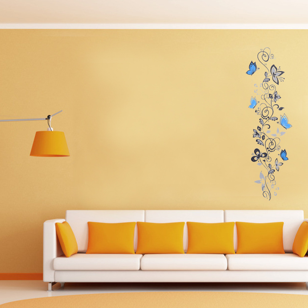 Vine Type Blue Butterfly Wall Sticker Home Decorations New Year 2016 ...