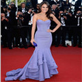 Delicate Celebrity Fashion Evening Dress Mermaid With Sexy Off the Shoulder Sweetheart Neckline and Pleated Sation Long Dress