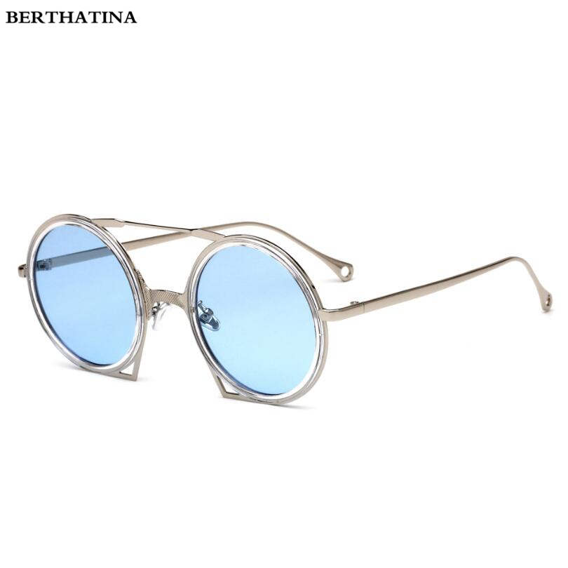 d5ba931cb Aliexpress.com : Buy Vintage Retro Gothic Steampunk Mirror Sunglasses Women  Men Gold and Black Metal Sunglasses Ladies Round Circle UV400 gafas de so  from ...