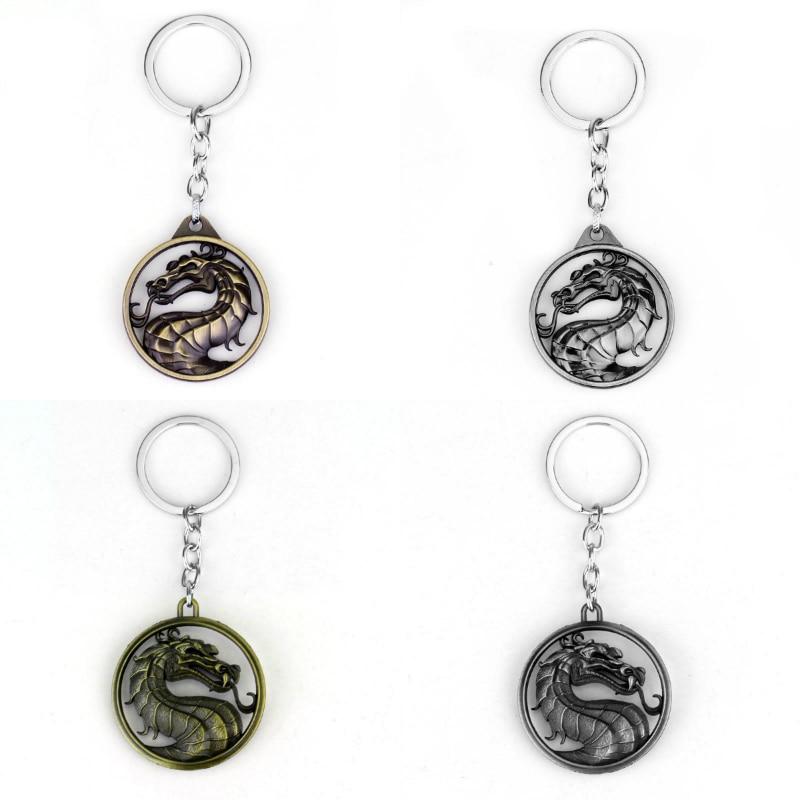 Mortal Kombat Dragon Symbol Keychain Pendant Pame Periphery Jane Empire Fighting Games Logo K Film Animation Car Key Ring