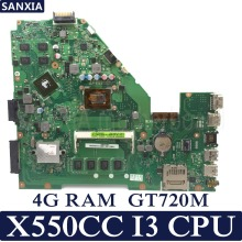 KEFU X550CC Laptop motherboard for ASUS A550C X550CL R510C Test original mainboard 4G RAM I3 CPU GT720M