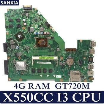KEFU X550CC Máy Tính Xách Tay bo mạch chủ cho ASUS A550C X550CL R510C Kiểm Tra mainboard gốc 4G RAM I3 CPU GT720M
