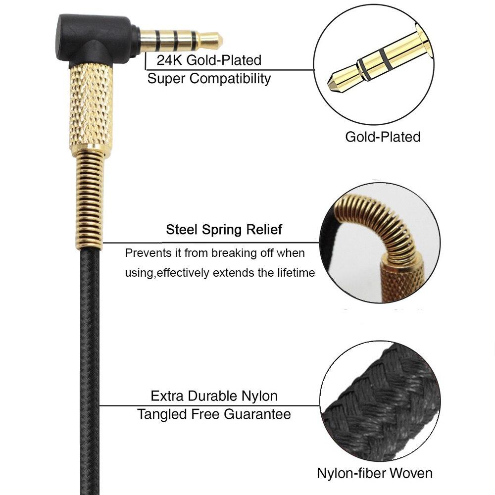 Replacement Audio nylon Cable For JBL J55 J55a J55i J88 J88a J88i headphones
