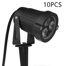 10pcs Waterproof 9W led lamp spike garden lighting for garden and courtyard
