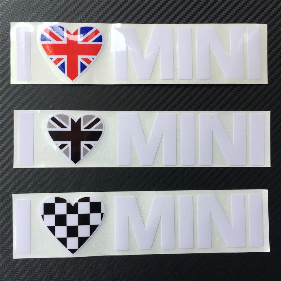 Ես սիրում եմ MINI Car Styling Window Vinyl Car Stickers and - Ավտոմեքենայի արտաքին պարագաներ - Լուսանկար 3