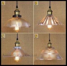 Медь стекло подвесные светильники промышленное освещение Lamparas светильник suspendu эдисон светильники страна ретро lampen люс