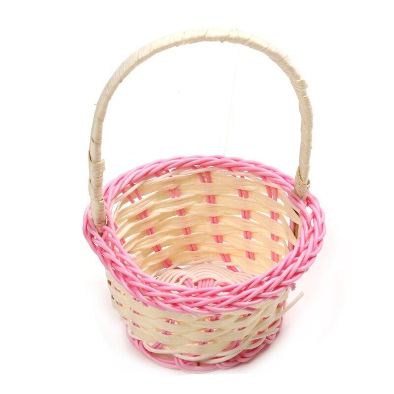 Basket Weaving Supplies Coupon : Plastic rattan weaving basket with handle picnic