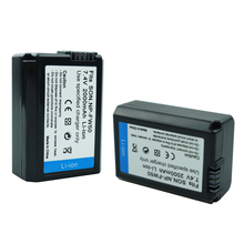 купить 2Pcs 2000mAh NP-FW50 batteries NP FW50 Battery For Sony NEX-3N NEX-5 NEX-5N Alpha A5000 A6500 DSC-RX10 Alpha A7S A7II Camera по цене 1184.09 рублей