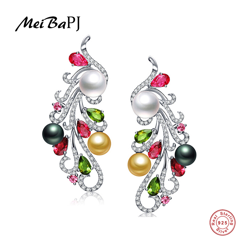 Yinfeng 925 Silver Freshwater Pearl Stud Earring Natural Pearl Phoxe Stud Earrings Pearls Jewelry For