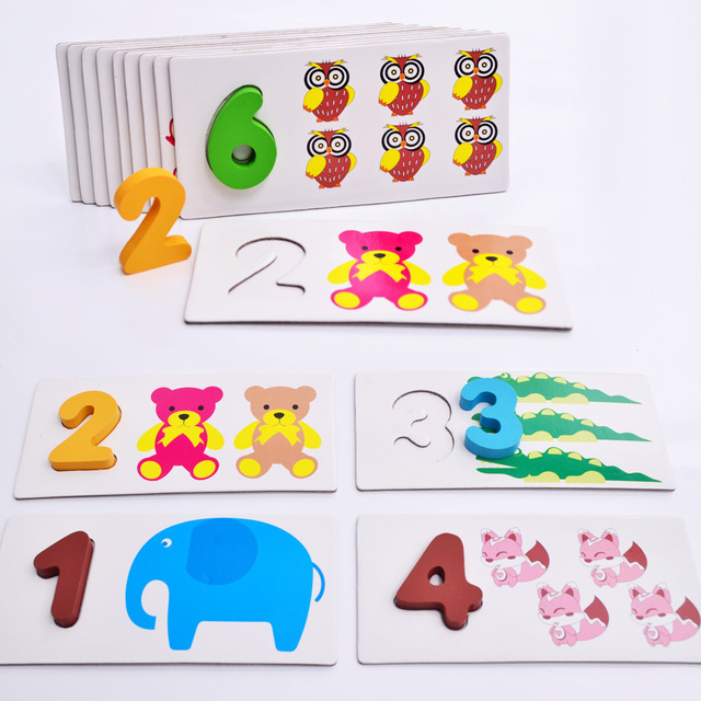 Early education Maths Toys count board abacus Wooden Montessori materials Wood Mathematics Math Toy for Kids Children Gift