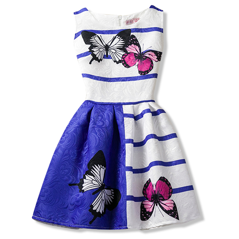 6-12Y flor princesa vestido niños ropa para niñas vestidos de verano ...