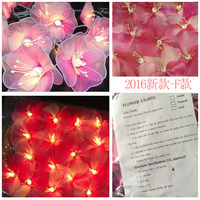 Thai Style Fairy Flower LED 20Led 3M 220V Garland String Lights Fairy Wedding Romantic Decor Party