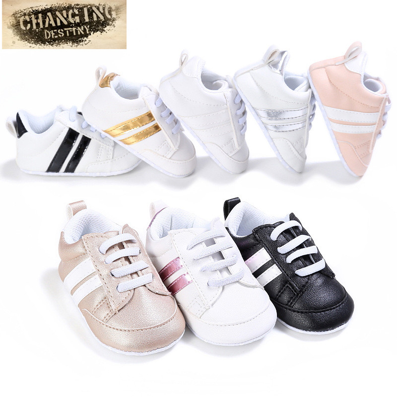 0 -18 Months 8 Colors Baby's First Walkers Non – Slip PU Leather Soft Bottom Newborn Shoe Leisure Sports Baby Shoes