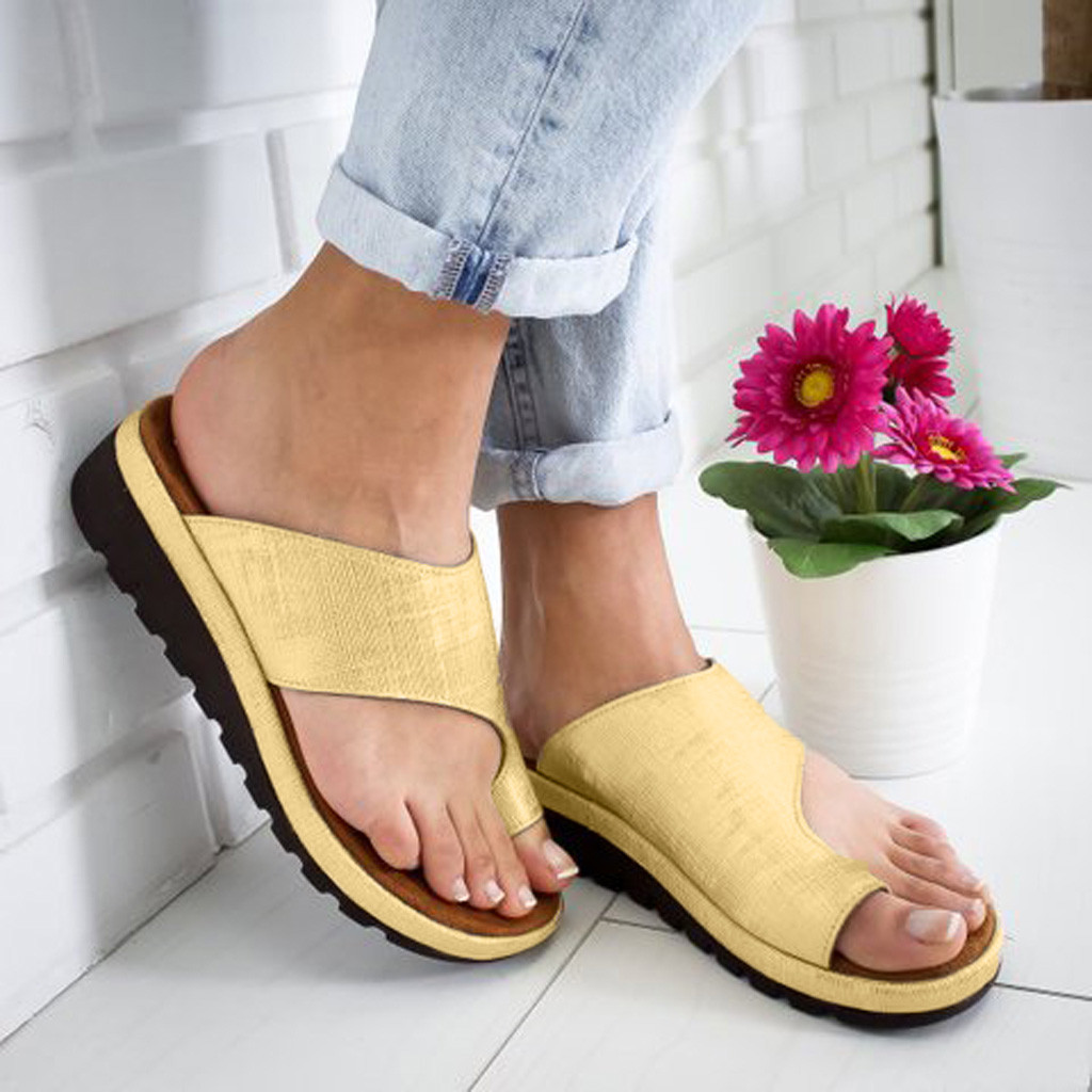 Summer Women Outdoor Slippers Leather Flats Wedges Slipper Fluorescent Color Open Toe Ankle Beach Shoes Roman Sandals Plus SizeSummer Women Outdoor Slippers Leather Flats Wedges Slipper Fluorescent Color Open Toe Ankle Beach Shoes Roman Sandals Plus Size