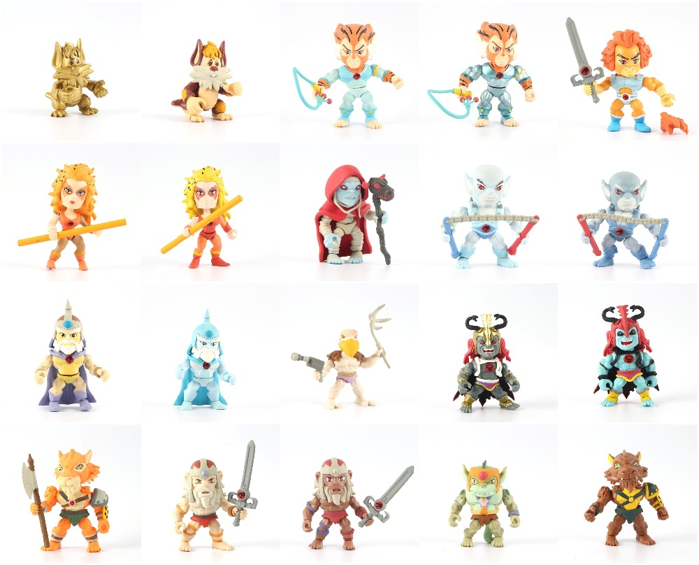 90% new The Loyal Subjects Thundercats Action Vinyls Figure Hot Metallic Set