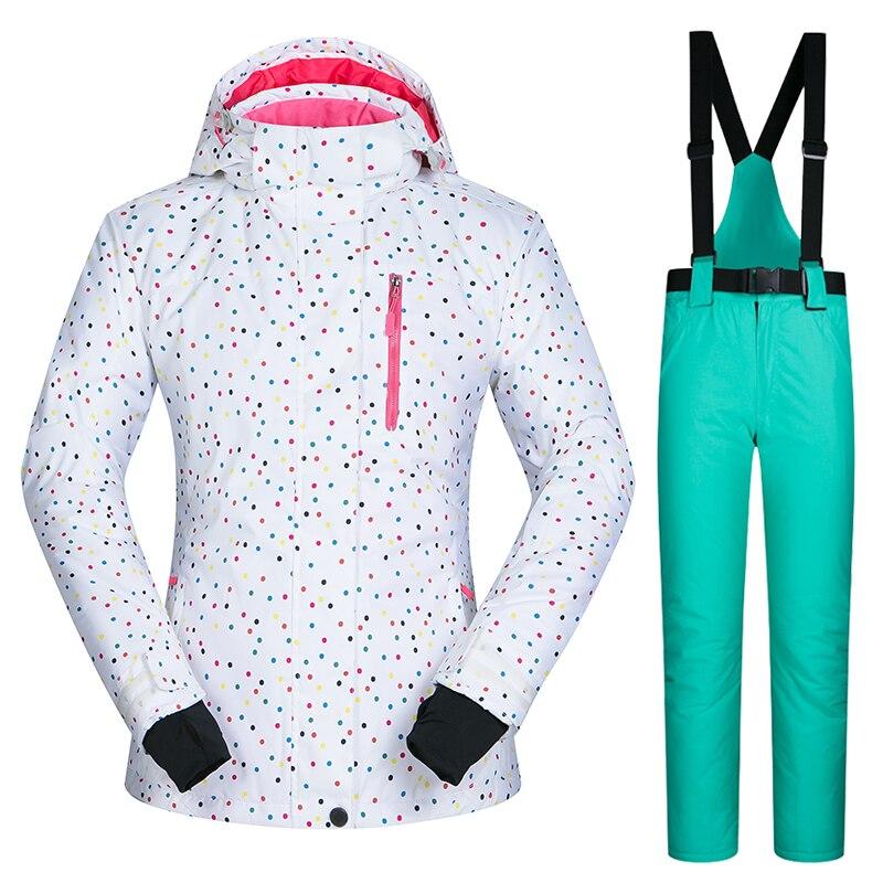 Prix pour Extérieure combinaison de ski féminin ensemble unique femmes ski sous-vêtements coupe-vent imperméable et respirant veste et pantalon