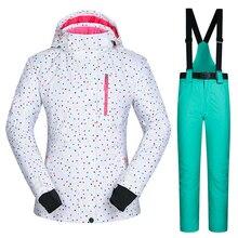 Outdoor ski suit female set single women skiing underwear waterproof windproof and breathable jacket and pants