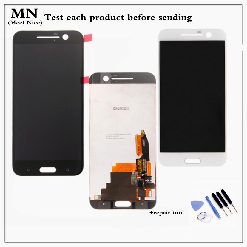 Prix pour 100% testé remplacement noir blanc pour htc 10 one m10 écran lcd avec écran tactile digitizer assemblée livraison gratuite