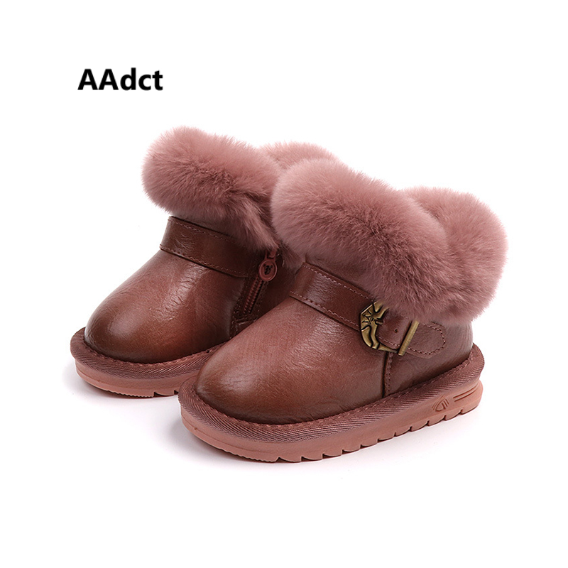 AAdct Bow real hair baby snow boots Warm cotton boots for little girls and boys 2018 Winter new fashion little kids boots джимми роджерс джуниор уэллс доктор росс little junior parker sammy myers manish boys биг уолтер шейки хортон little willie foster harp blues page 10
