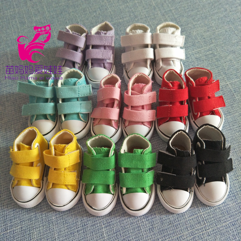 7.5cm Canvas Shoes For BJD Doll Toy 1/4 Mini Doll sneakers Shoes for 16 Inch Sharon doll Boots for handmade cloth doll uncle 1 3 1 4 1 6 doll accessories for bjd sd bjd eyelashes for doll 1 pair tx 03