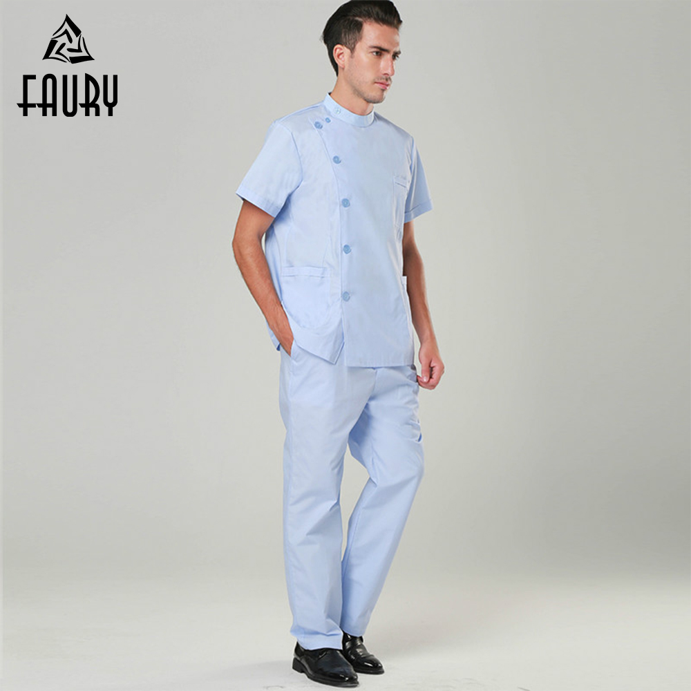 High Quality New Nurse Doctor Scrub Sets Hospital Durable Wahsable Sugical Gowns Operation Clothes Suits With Pants For Men