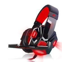 Gaming Kopfhörer USB 3,5mm Spiel Headsets Interface LED Volumen Kontrolle Über ohr Kopfhörer Für PC Mit Mikrofon Gamer kopfhörer
