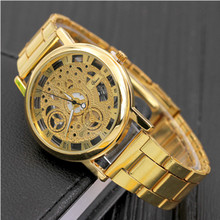 купить Hollow Quartz Watch Men Fashion Korean Men's Non-mechanical Watches Cross-border Gift Watches Mens Watches Top Brand Luxury дешево