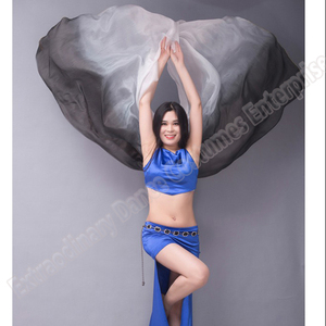 Image 4 - scarf belly dance veil velo danza del vientre shawl for belly dancing silk vei scarf bellydance Gradient Rainbow Adults veil