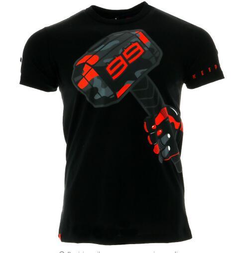 2017 jorge lorenzo 99 martelo camiseta masculina moto gp corrida de moto verão t nn9