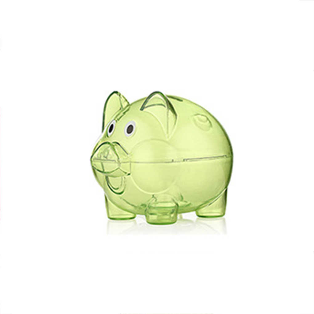 39323d695 ... New Mini Cute Transparent Case Coins Piggy Bank Cartoon Pig Shaped Plastic  Money Saving Box ...