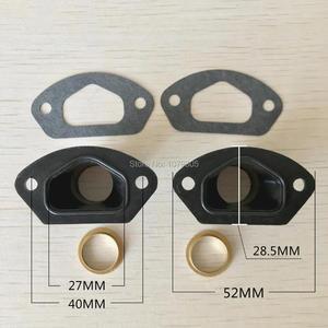 Image 3 - 2 conjuntos de peças de serra de escape, manopla de admissão com anel e junta para 45cc/4500 52cc/5200 58cc/peças chinesas da motosserra 5800