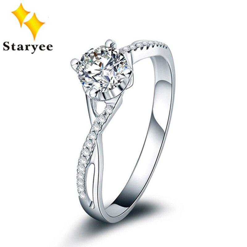 Роскошные 18 К Karat свадебные Белое золото ювелирные изделия сертифицированные 0.5CT VS DEF Moissanite обручальные кольца для Для женщин 0.1Ct SI H алмаз ак...