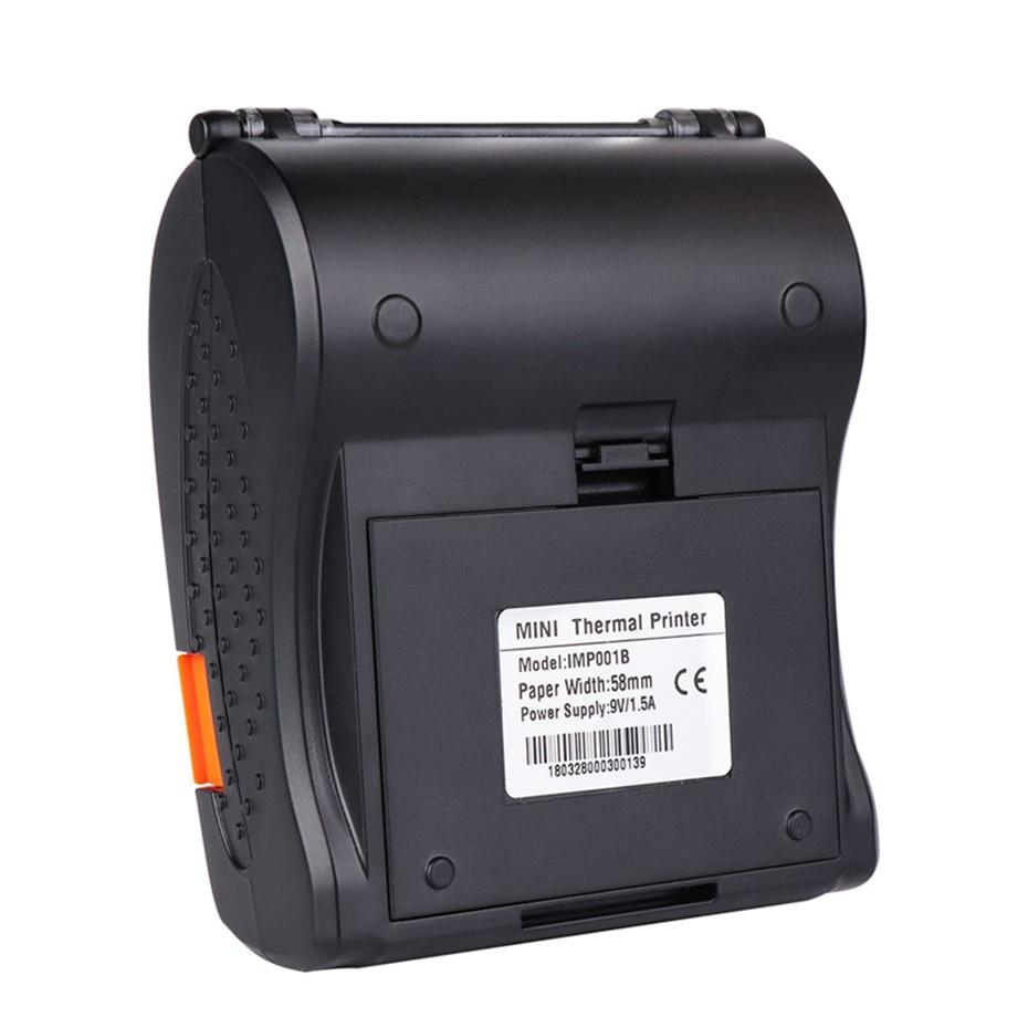 5/10pcs/1Lot Wholesale Pos 58 Thermal Printer Mini Portable Android  Bluetooth Thermal Printer Bluetooth Receipt Printer Dropship